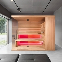 Bio sauna with hidden sauna heater