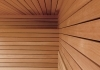 Canadian red cedar sauna wall