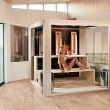 Cube sauna for indoor sauna room