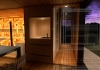 Family sauna with kitchen