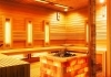 Finnish sauna with infrared therapy