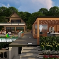 Garden design with sauna