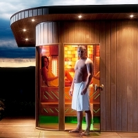 Garden Sauna with finnish sauna and infrared sauna