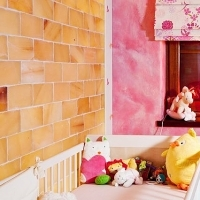 Himalayan salt therapy in baby room