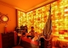 Himalayan salt therapy in room