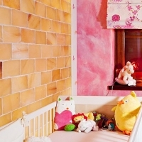 Himalayan salt wall for babies
