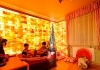 Himalayan salt wall in children room