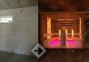 Home sauna design with chromotherapy