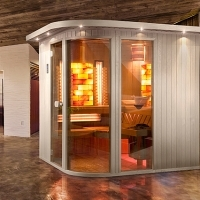 Indoor infrared sauna