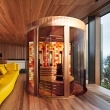 Indoor sauna design