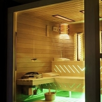 Indoor sauna for Individual building