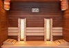 Infrared sauna and finnish sauna with Himalayan salt therapy