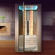 Infrared sauna with light therapy