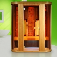 Infrared sauna with Philips Vitae and himalayan therapy