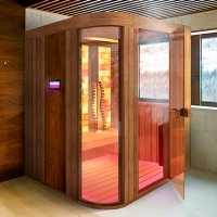 Infrared sauna with steam