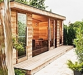 Luxury outdoor sauna house