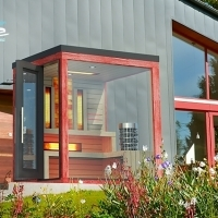 Outdoor color combined sauna with saltwall