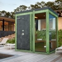 Outdoor color combined sauna with shower