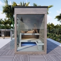 Outdoor combi sauna
