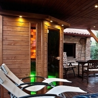 Outdoor wellness sauna house