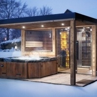 Panorama sauna house