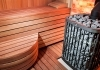 Russian sauna with special sauna heater