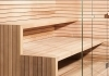 Sauna benches in minimal style