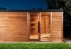 Sauna house with relax outdoors