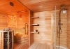 Sauna house with shower