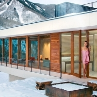 Sauna wellness house with shower