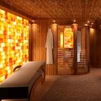 Wellness sauna room